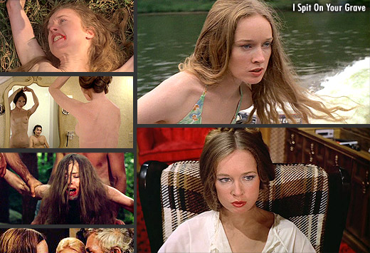Camille Keaton in What Have They Done to Solange? (1972) and I Spit On Your Grave (1978)