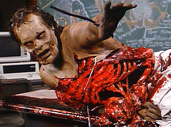 Romero's Day of the Dead is well-known for its gruesome and realistic gore effects