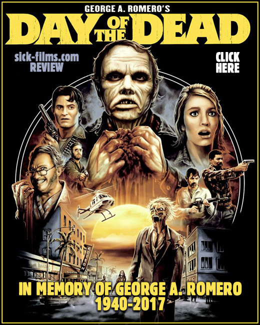 Click to read our posthumous review of George A. Romero's Day of the Dead (1985)